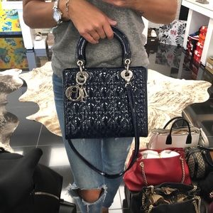 100% AUTHENTIC Christian Dior 'Lady Dior' Handbag